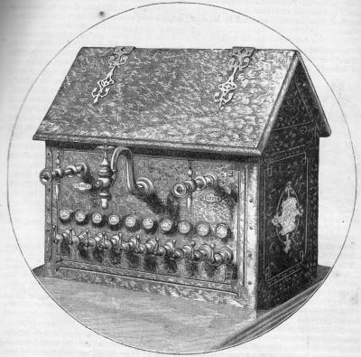 Soda Fountain: Harper's New Monthly Magazine, No. 267, August, 1872.